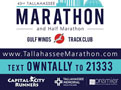 2017 Tallahassee Marathon Yard Sign - Gulf Winds Track Club